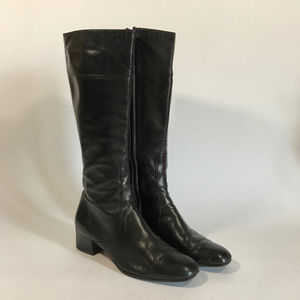 90's Cole Haan Sleek Tall Leather Boots